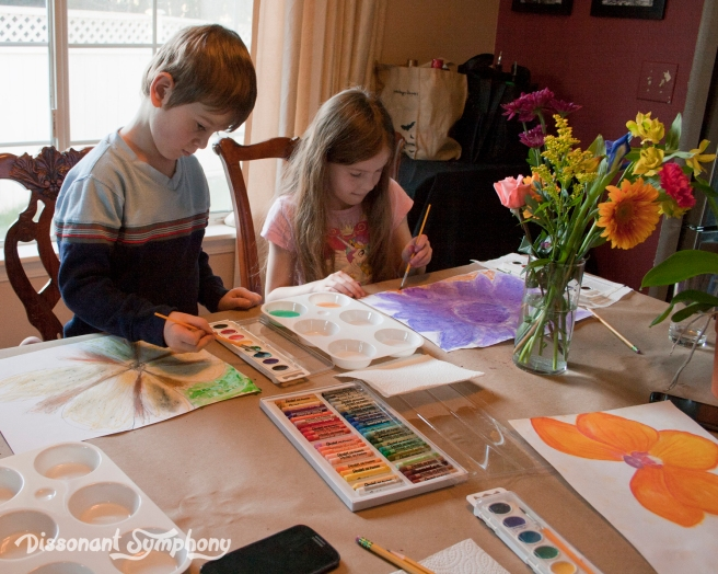 Georgia O'keeffe Kids Art Lesson