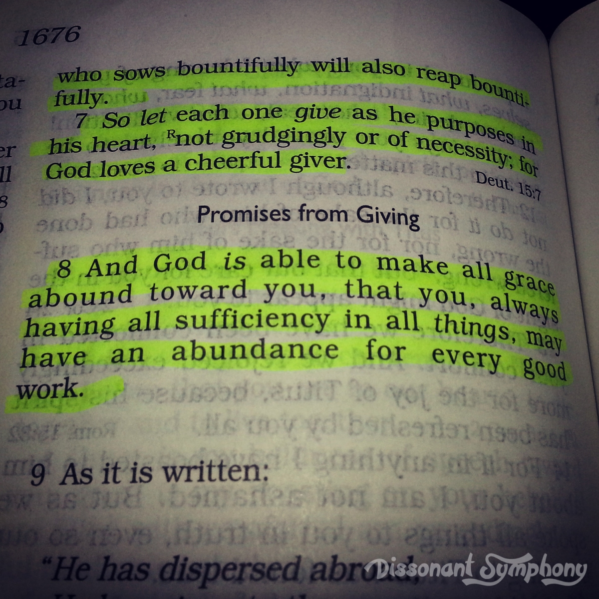Devotional: I Want to Give It All Away