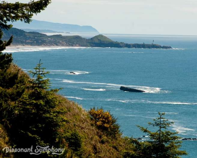 Yaquina Head & Lighthouse from Cape Foulweather