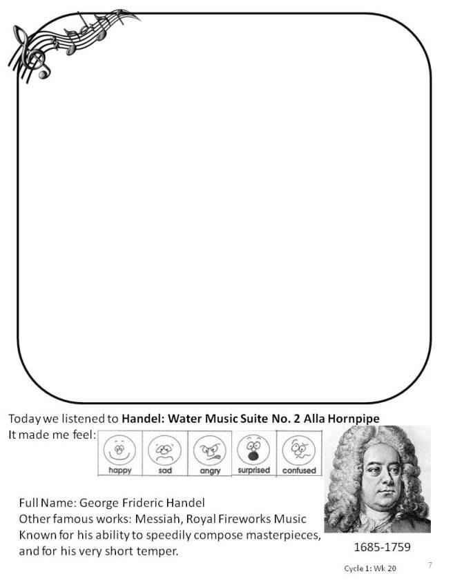 Handel Water Music Coloring Page